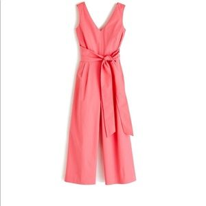 J. Crew Wrap-tie jumpsuit in stretch poplin